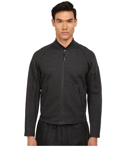 adidas Y-3 by Yohji Yamamoto - Future Sport Bomber (Charcoal Melange/Sub Blue) Men's Coat