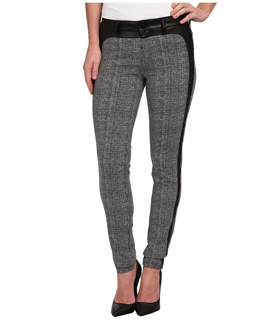 Liverpool - Felicia Tweed Leggings w/ Tuxedo Trim (Whisper White/Black) Women's Jeans