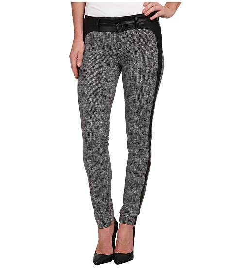 Liverpool - Felicia Tweed Leggings w/ Tuxedo Trim (Whisper White/Black) Women's Jeans