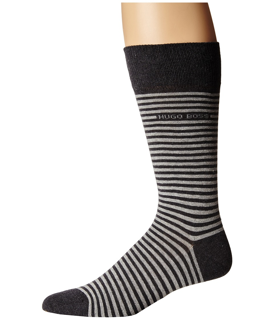 BOSS Hugo Boss - Brian (Charcoal) Men's Crew Cut Socks Shoes
