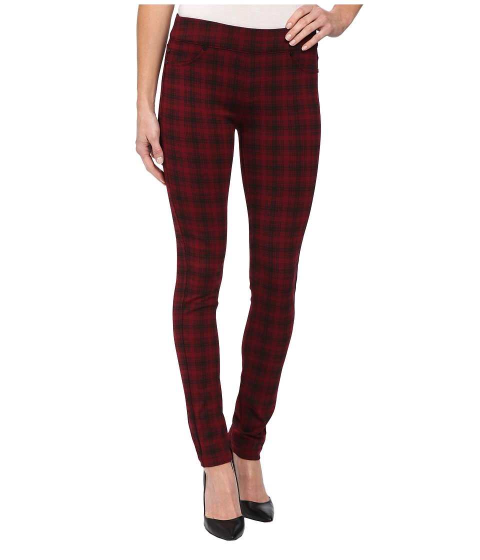 Liverpool - Sienna Pull-On Glen Plaid Leggings (Wine/Black) Women