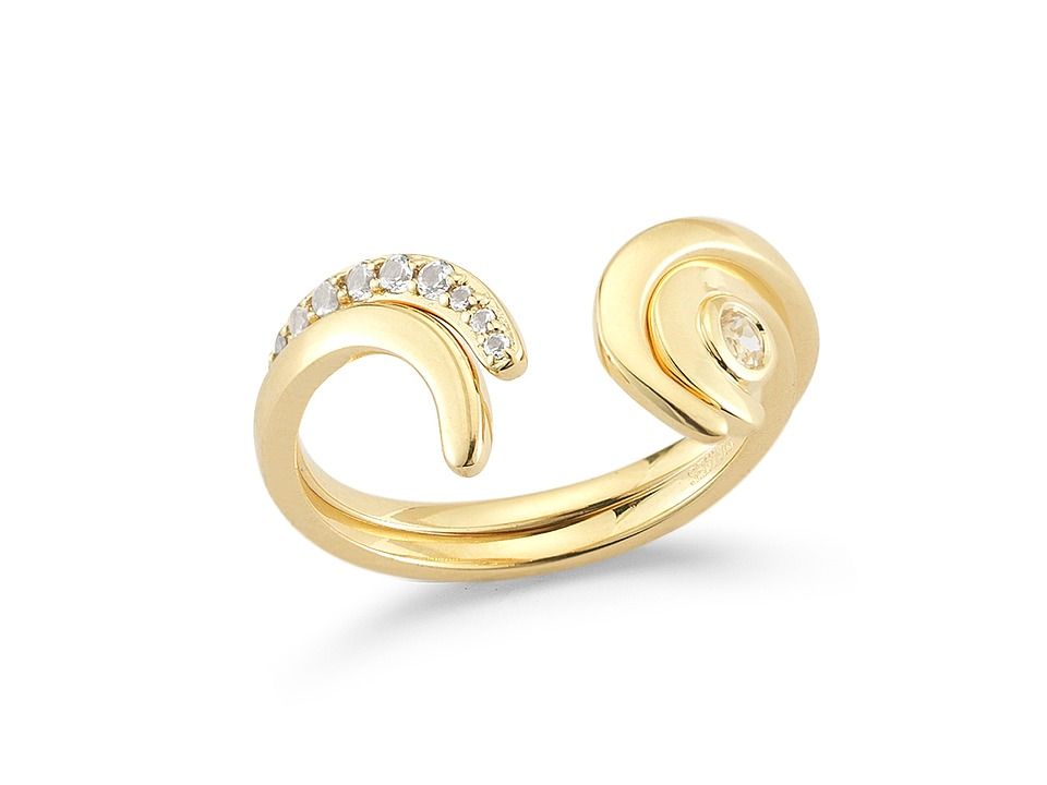 Elizabeth and James - Aalto Ring Set (Yellow Gold) Ring
