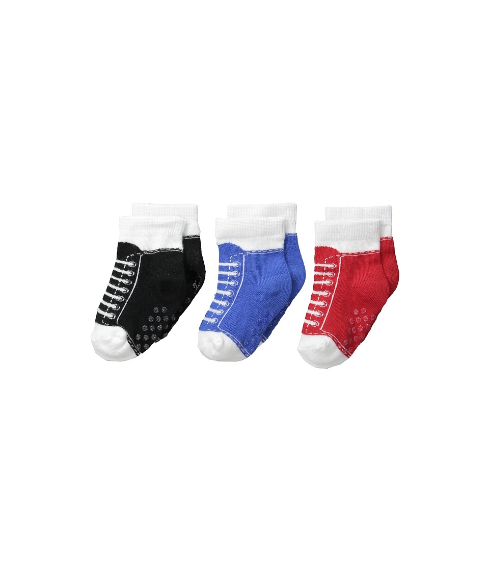 Jefferies Socks - Sneaker Socks Non-Skid 3-Pack (Infant/Toddler) (Multi) Boys Shoes