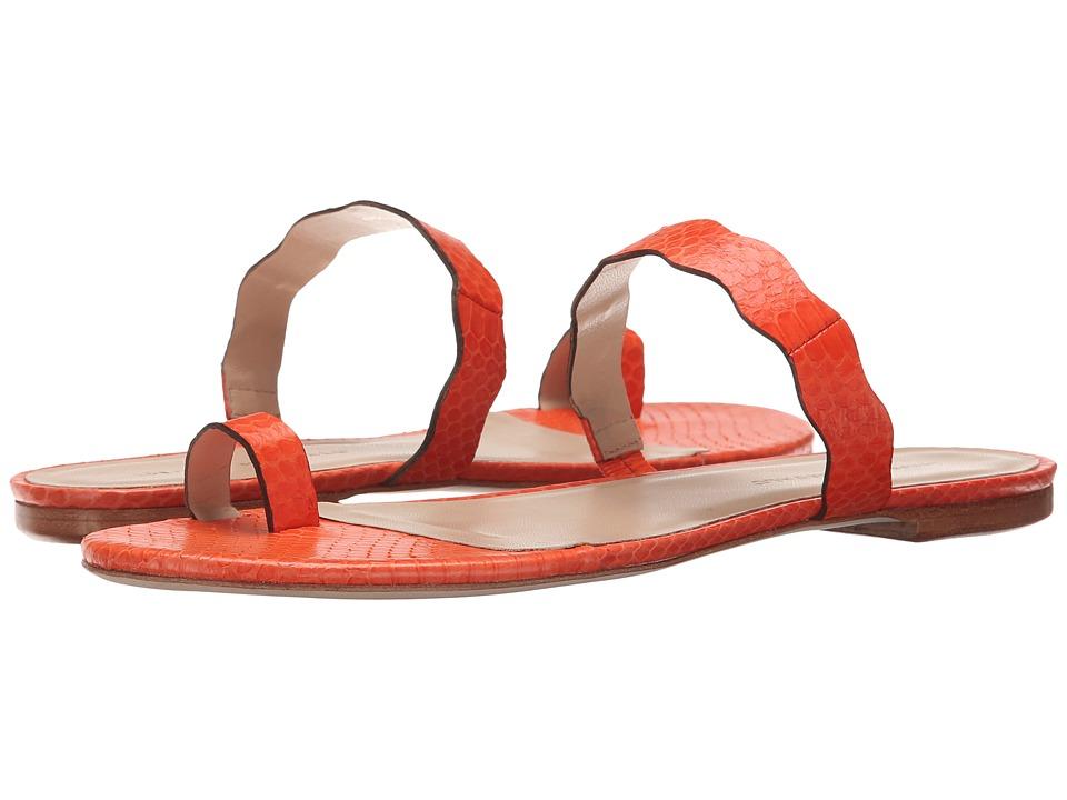 Loeffler Randall - Petal (Tangerine Snake) Women's Sandals