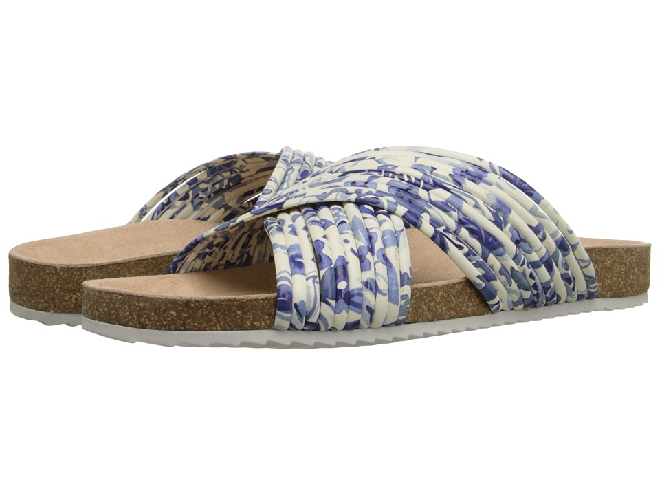 Loeffler Randall - Petra (Porcelain Print/White Leather) Women's Sandals
