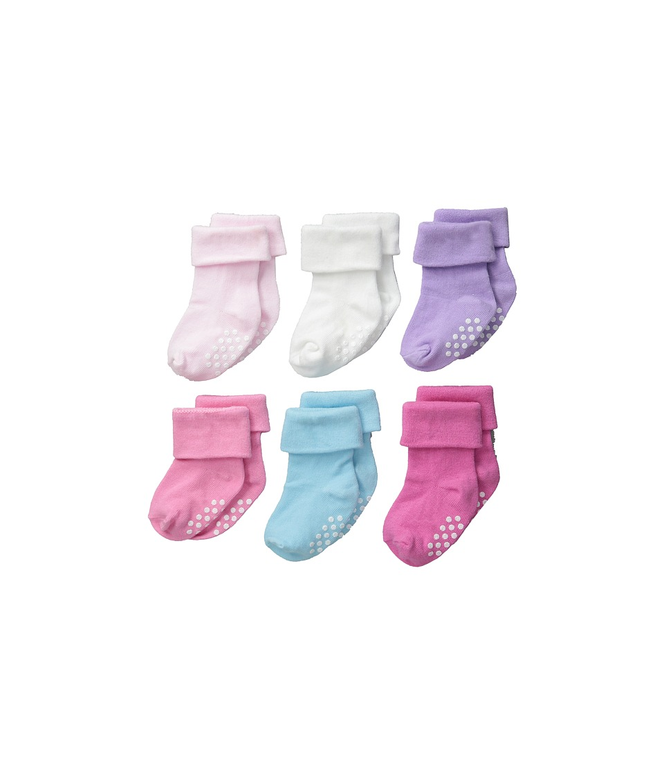 Jefferies Socks - Non-Skid Turn Cuff 6-Pack (Infant/Toddler) (Multi) Girls Shoes