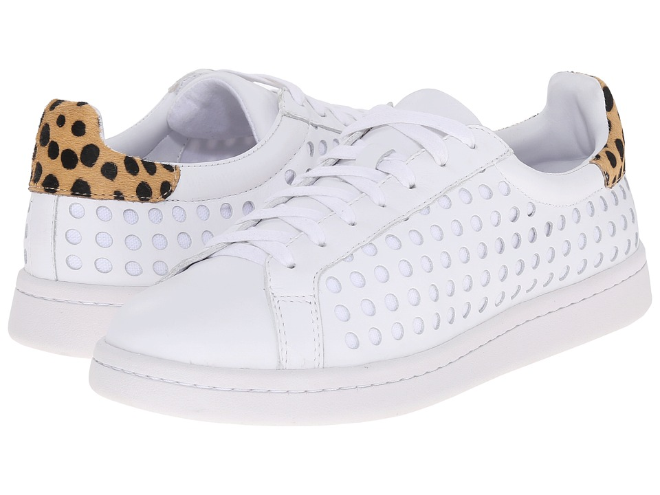 Loeffler Randall Zora (White Perforated Calf/Cheetah Haircalf) Women