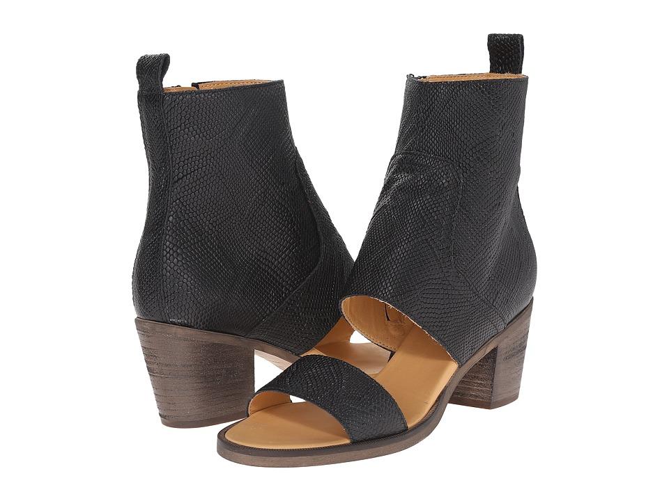 MM6 Maison Margiela - Open Ankle Bootie (Black) High Heels