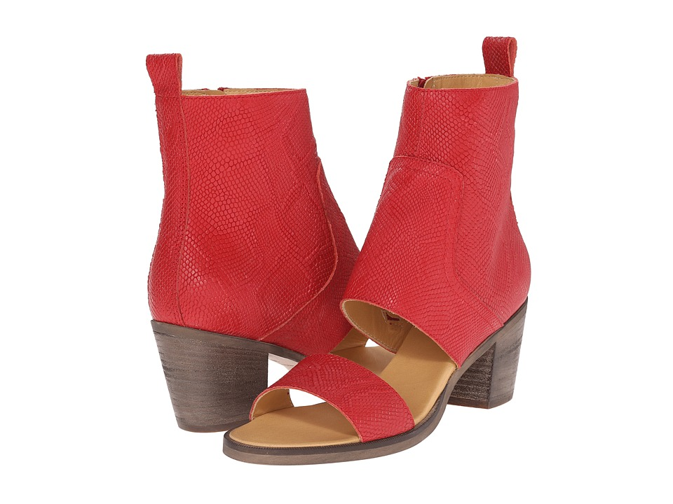 MM6 Maison Margiela - Open Ankle Bootie (Red) High Heels