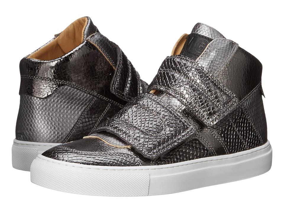 MM6 Maison Margiela - Metallic Crackle High Top (Gunmetal) Women's Lace up casual Shoes