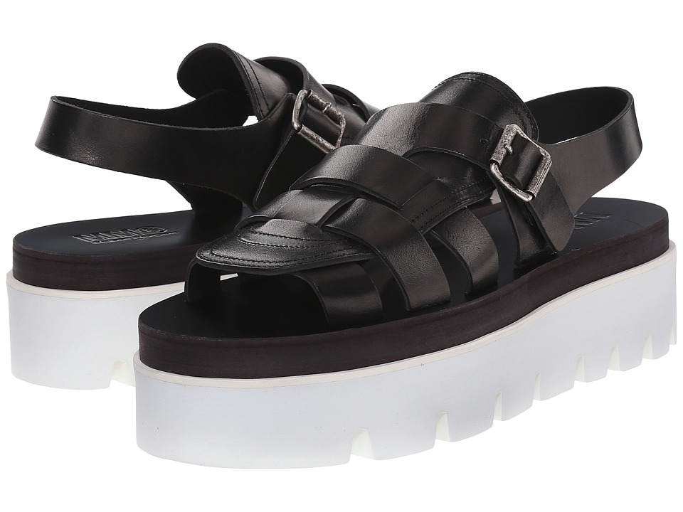 MM6 Maison Margiela - Flatform Buckle Sandal (Black) Women's Sandals