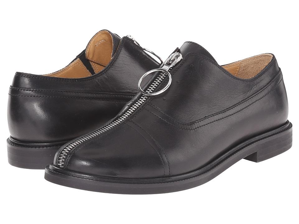 MM6 Maison Margiela - Center Zip Oxford (Black) Women's Slip on Shoes