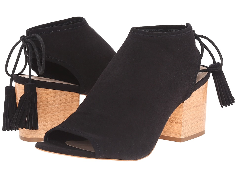 Loeffler Randall - Lorelei (Black Kid Suede) Women's Toe Open Shoes