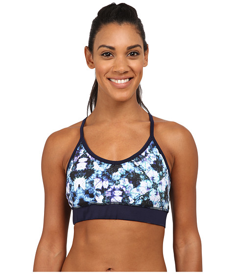 Pink Lotus - Kaleid Tie-Dye Botanic Sports Bra (Purple Multi) Women's Workout