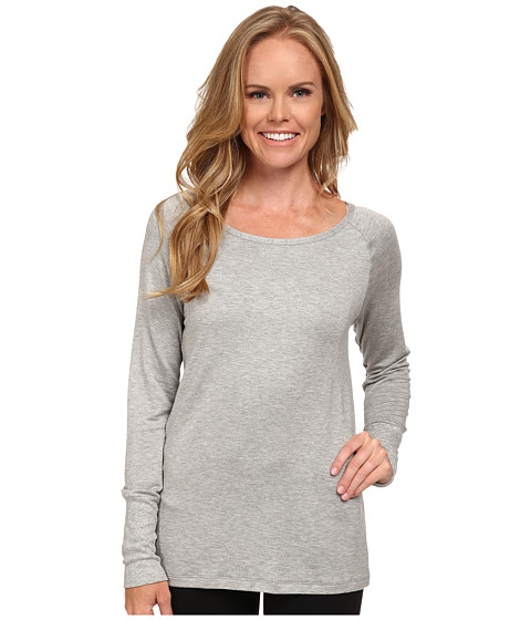 Pink Lotus - Color Me Ombre Cut It Pullover (Heather Gray) Women