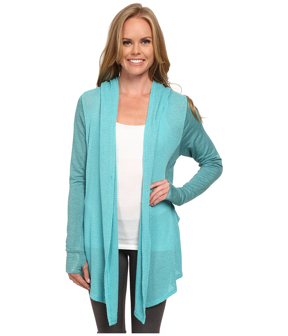 Pink Lotus - Coastal Lounge Breeze Drape Front Wrap (Light Teal) Women's Clothing