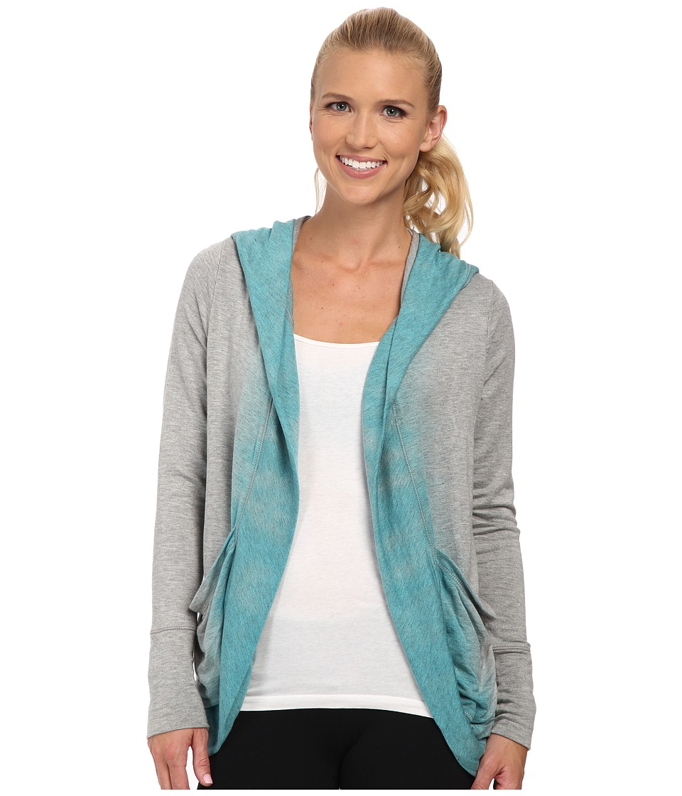 Pink Lotus - Color Me Ombre Lounge About Wrap (Light Teal) Women's Clothing