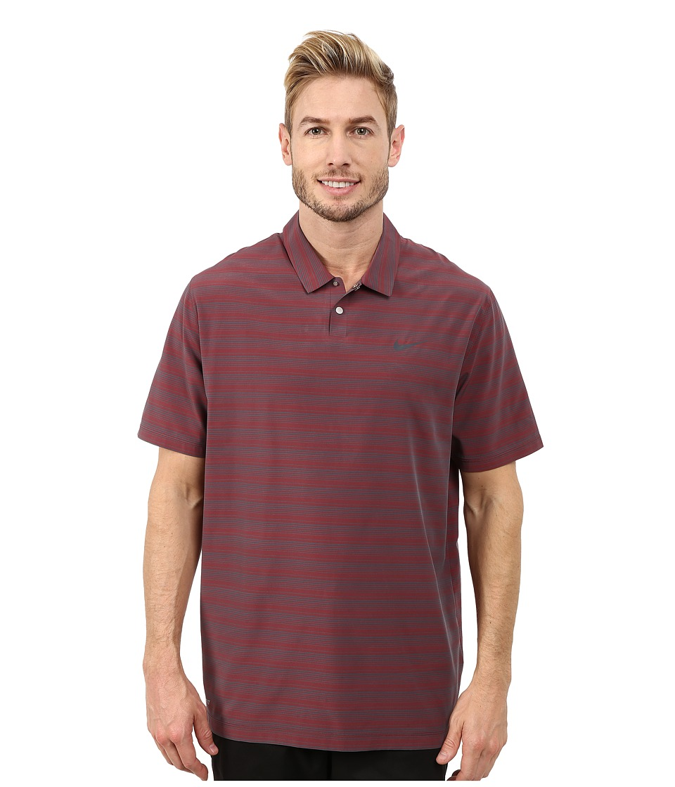 Nike Golf - Tiger Woods Mobility Polo (Red) Men's Short S...