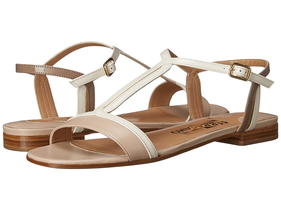 Salvatore Ferragamo - Gerry (Macadamia Rubens Calf) Women's Sandals
