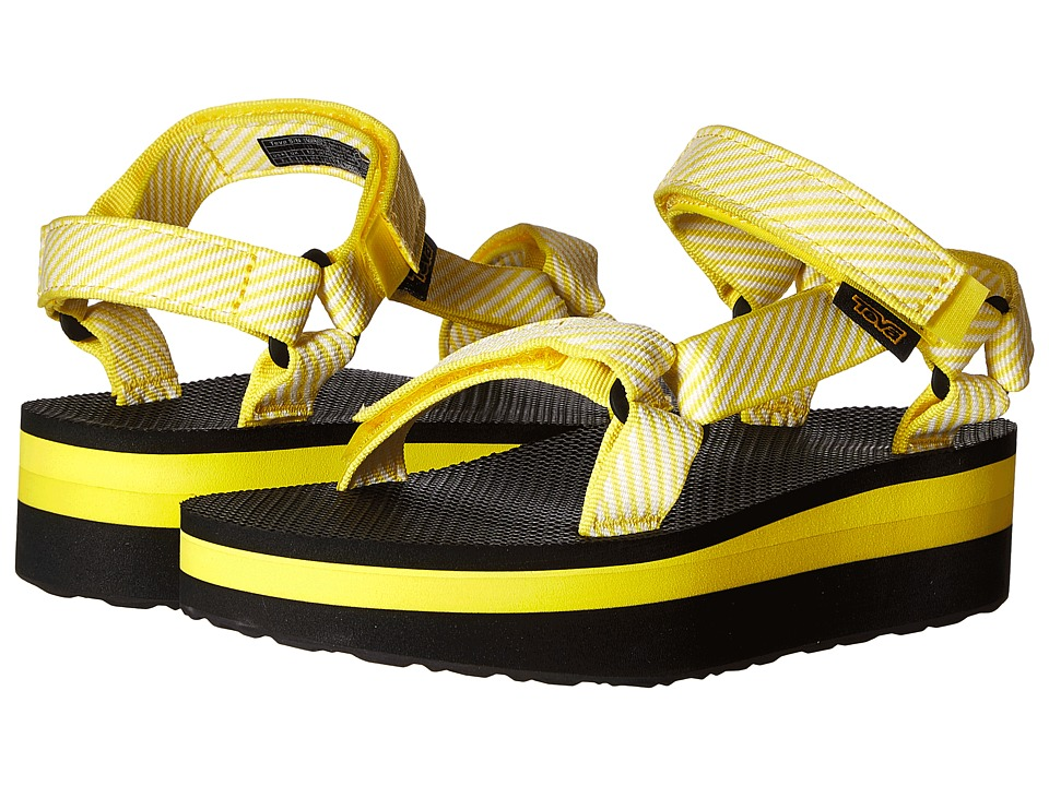 Teva Flatform Universal (Candy Stripe Yellow) Women