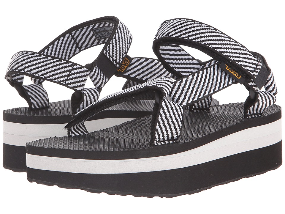 Teva - Flatform Universal (Candy Stripe Black) Women's Sandals