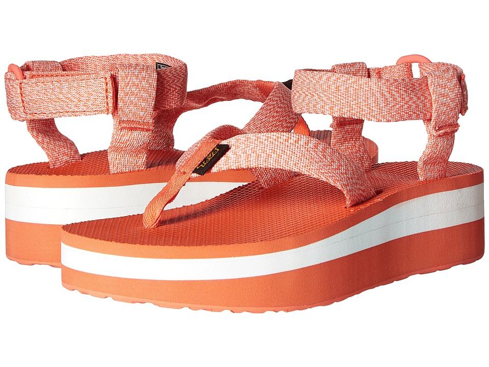 Teva Flatform Sandal (Marled Coral) Women