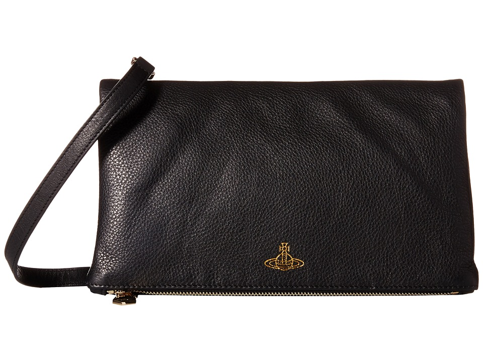 Vivienne Westwood - Spencer Crossbody Clutch (Black) Clutch Handbags
