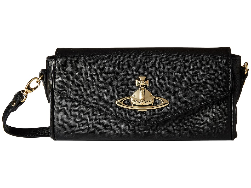 Vivienne Westwood - Divina Crossbody (Black) Cross Body Handbags