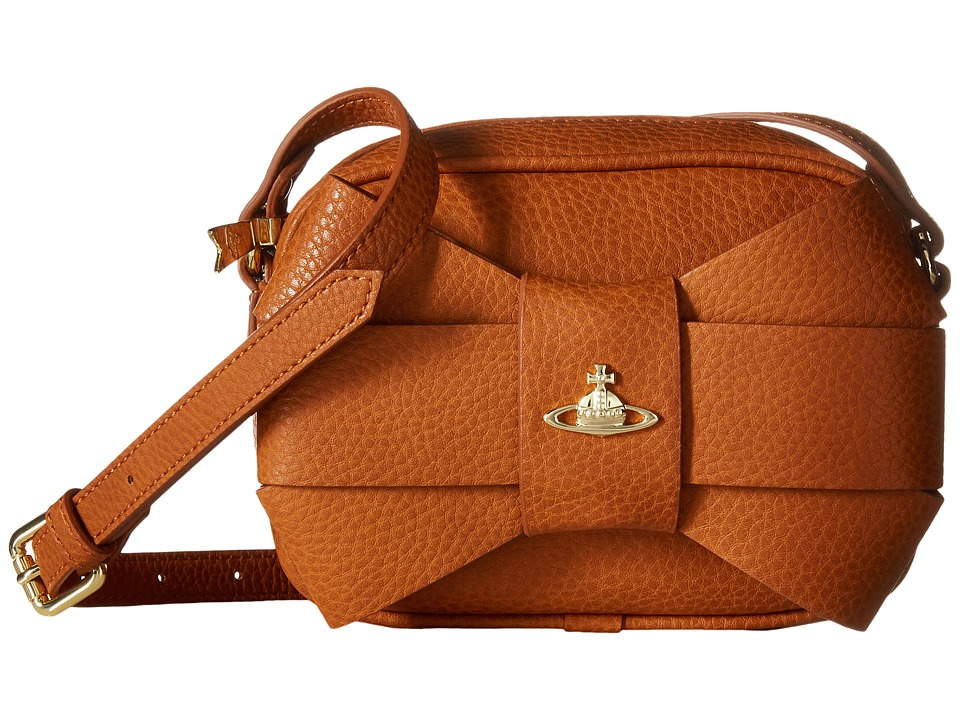 Vivienne Westwood - Bow Crossbody (Tan) Cross Body Handbags