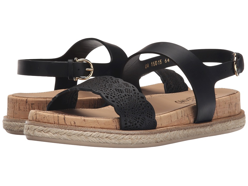 Salvatore Ferragamo - Gianette (Nero Venezia) Women's Sandals