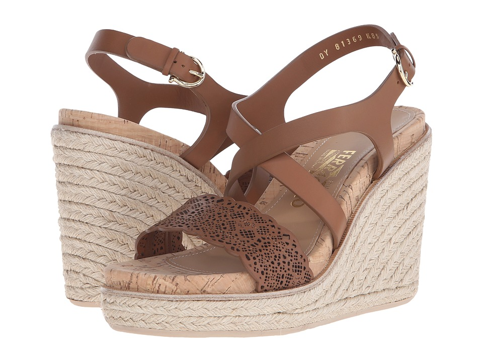 Salvatore Ferragamo - Espadrille Wedge Sandal (Palissandro Venezia) Women's Wedge Shoes