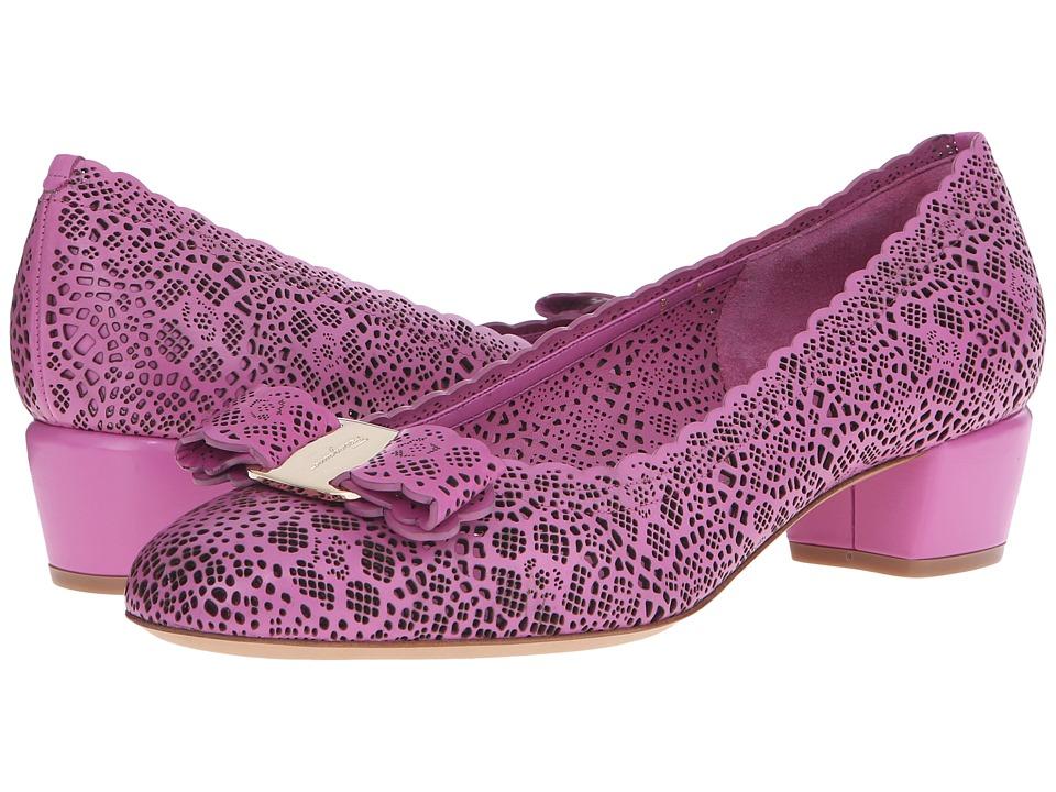 Salvatore Ferragamo - Varalasercut (Anemone Rubens Laser) Women's 1-2 inch heel Shoes