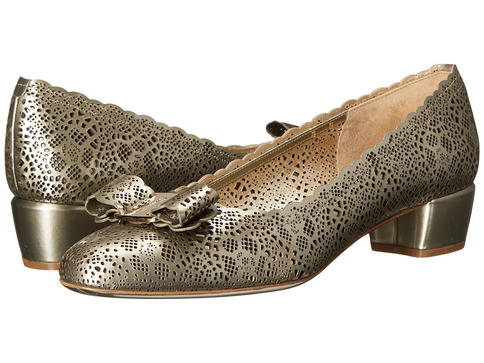Salvatore Ferragamo - Varalasercut (Stardust Cristal Calf) Women's 1-2 inch heel Shoes