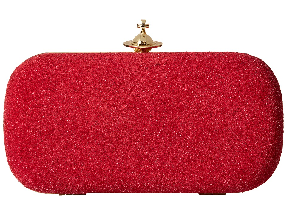 Vivienne Westwood - Angel Glitter Medium Clutch (Red) Clutch Handbags