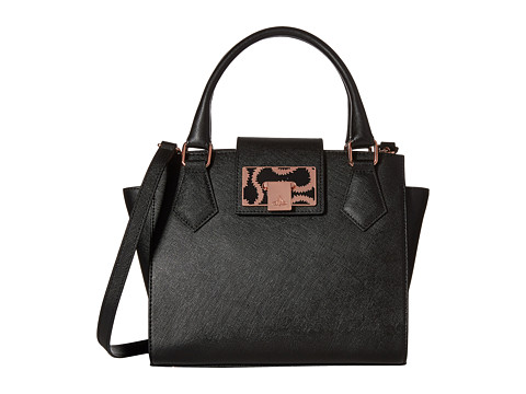 Vivienne Westwood - Saffiano Small Handbag (Black) Handbags