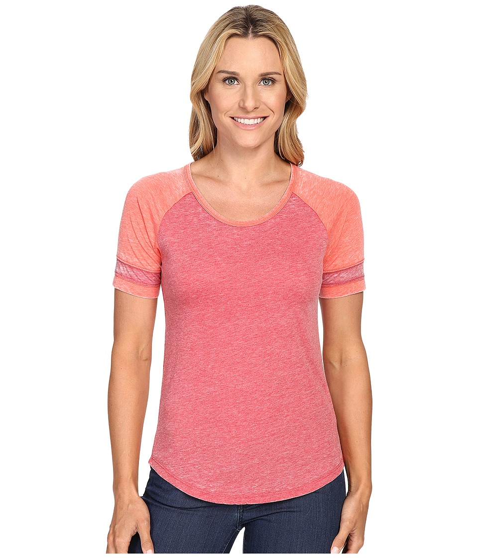 Prana - Cleo Tee (Sunwashed Red) Women's Short Sleeve Pullover
