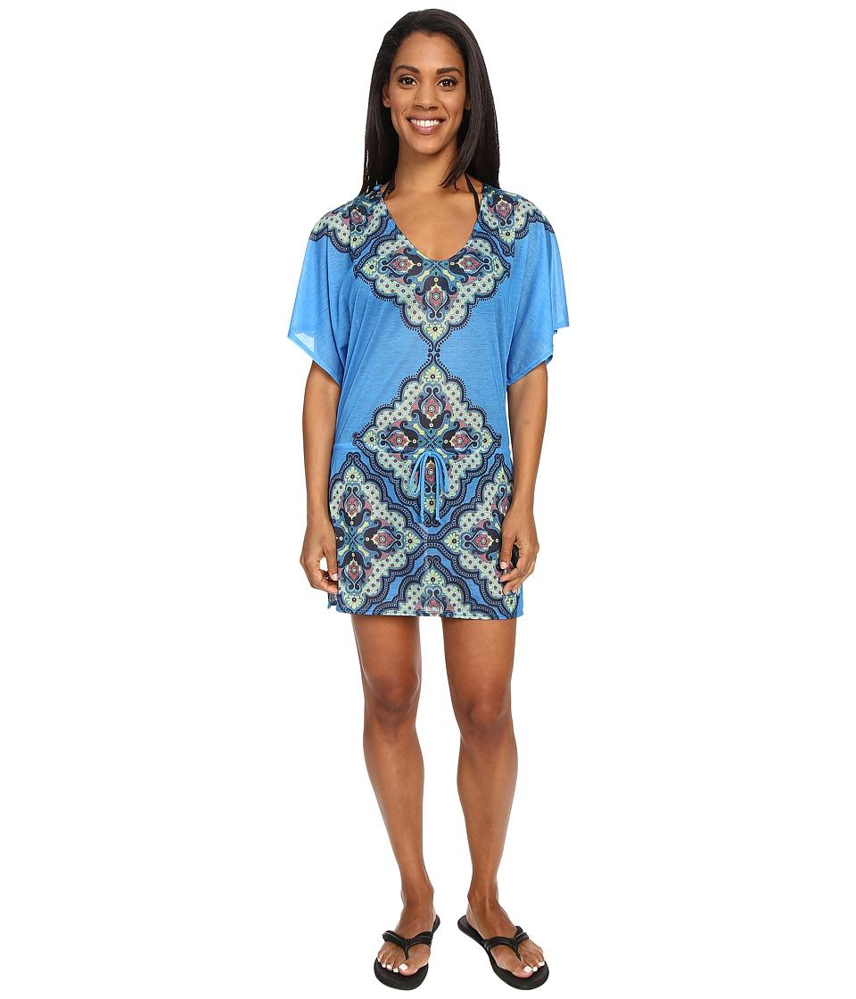 Prana - Saida Kaftan (Vivid Blue Jasmine) Women's Blouse