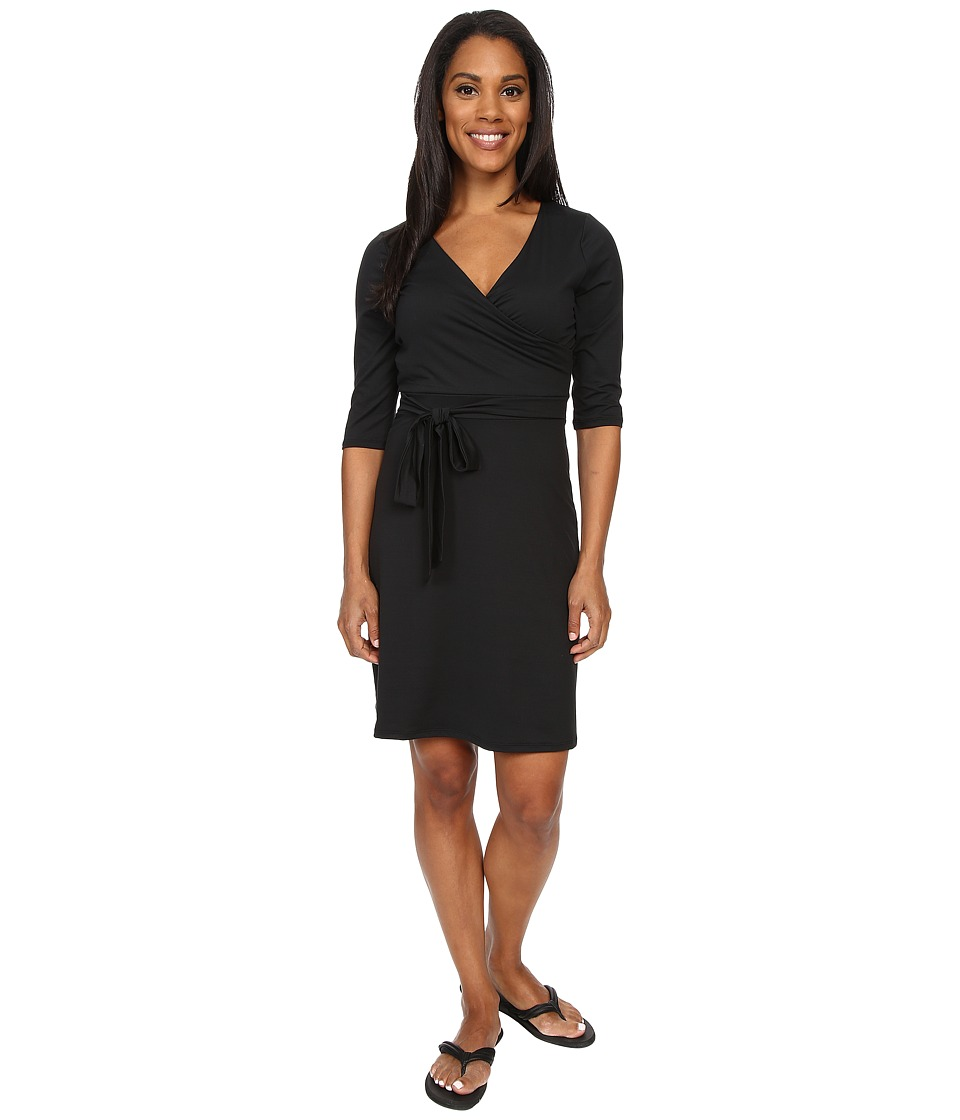 Prana Belladonna Long Sleeve Dress (Black) Women