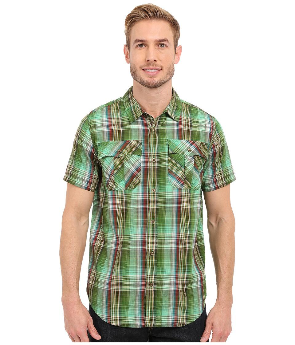Prana - Ostend (Green Smoke) Men's Short Sleeve Button Up