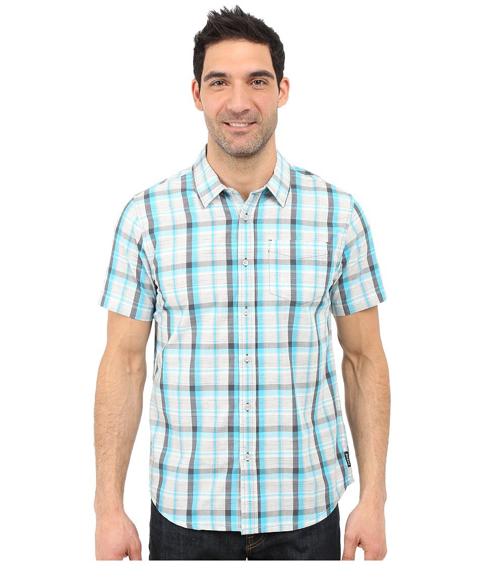 Prana - Tamrack (Classic Blue) Men's Short Sleeve Button Up
