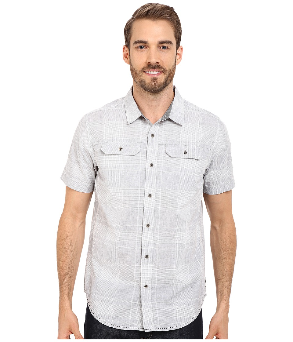 Prana - Marvin (Silver) Men's Short Sleeve Button Up