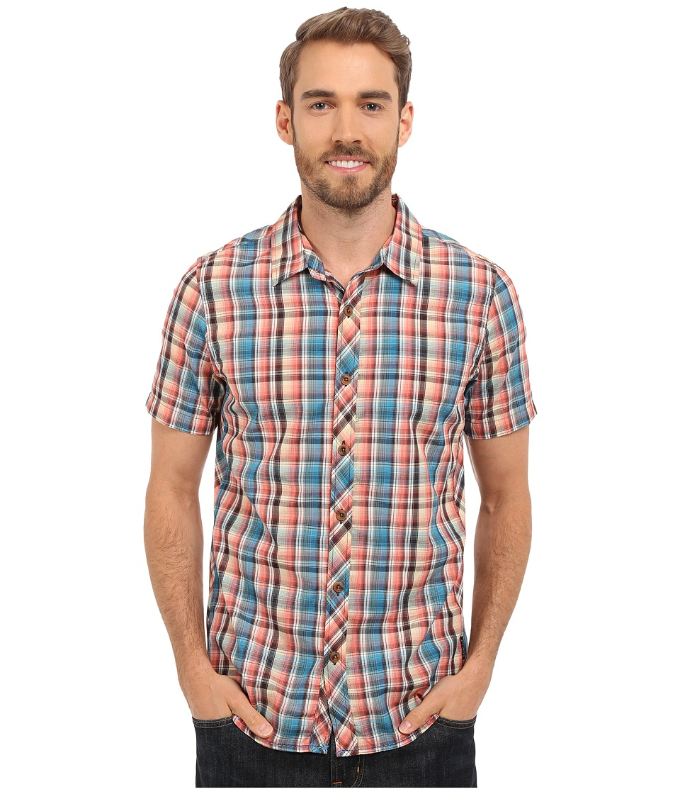 Prana - Elliot Slim (Cove) Men's Short Sleeve Button Up