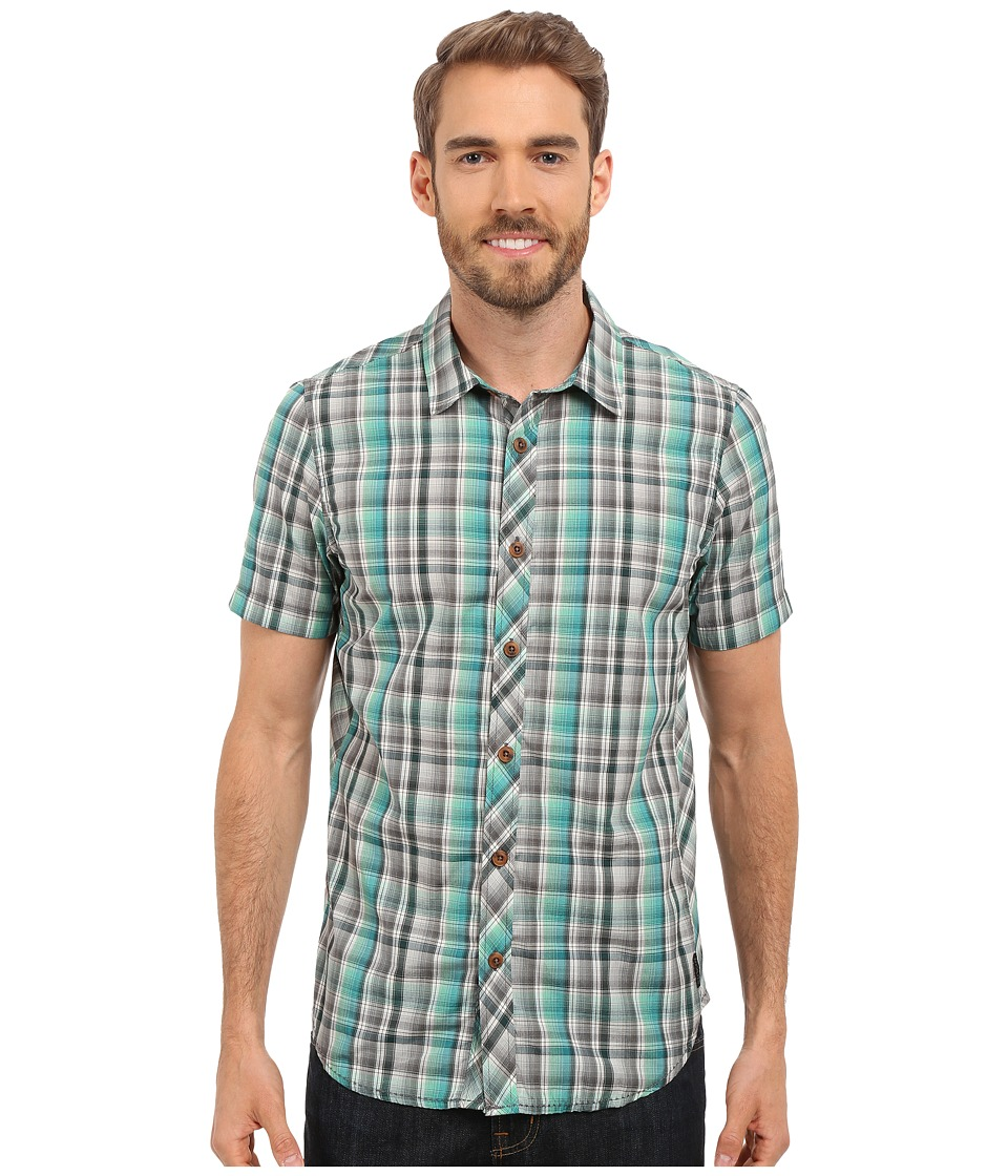 Prana - Elliot Slim (Deep Teal) Men's Short Sleeve Button Up