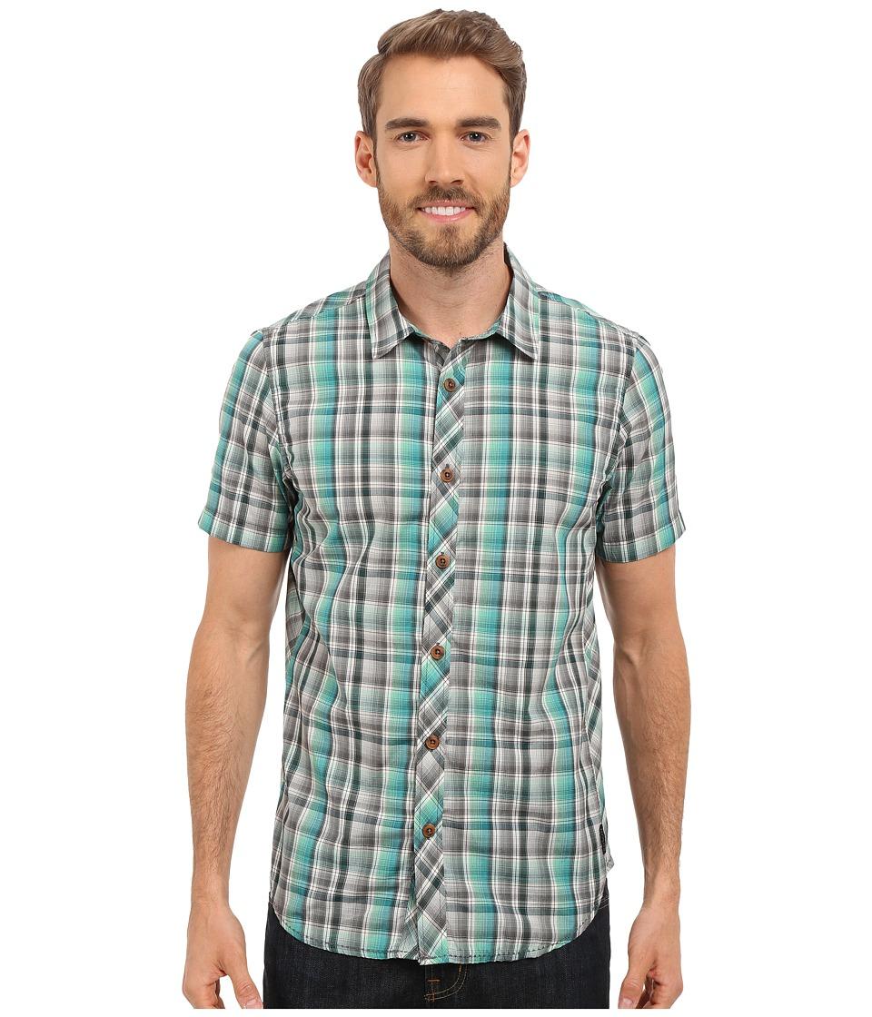 Prana - Elliot Slim (Deep Teal) Men's Short Sleeve Button Up