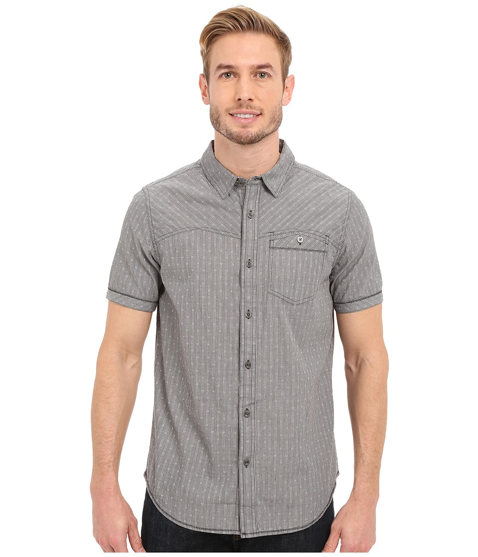 Prana - Patras Slim (Charcoal) Men's Short Sleeve Button Up