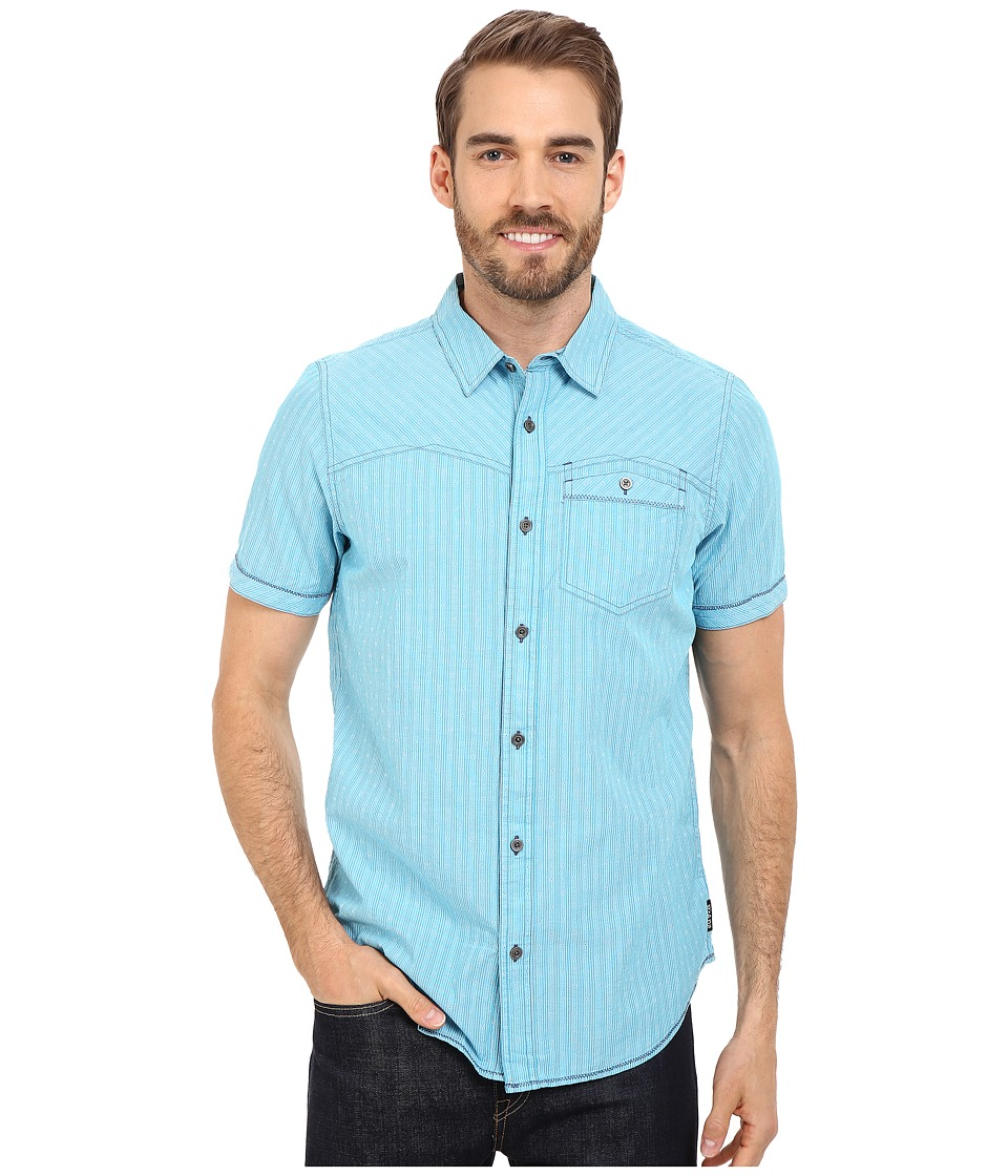 Prana - Patras Slim (Cove) Men's Short Sleeve Button Up