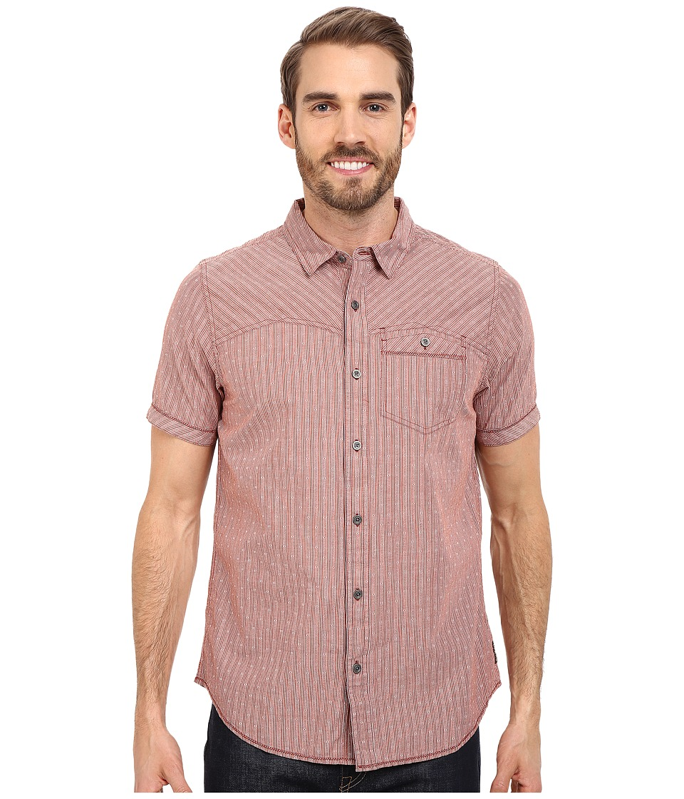 Prana - Patras Slim (Henna) Men's Short Sleeve Button Up