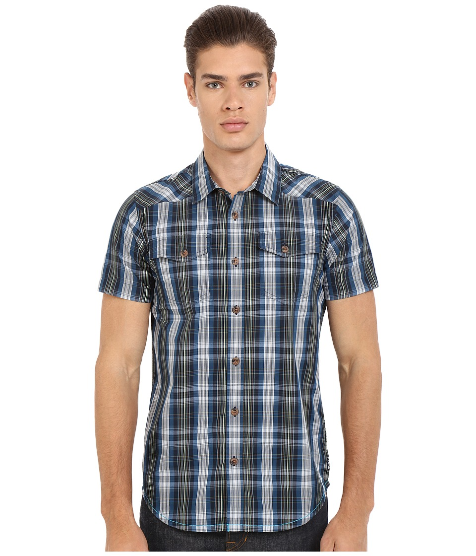 Prana - Murdock Slim (Blue Ash) Men's Short Sleeve Button Up