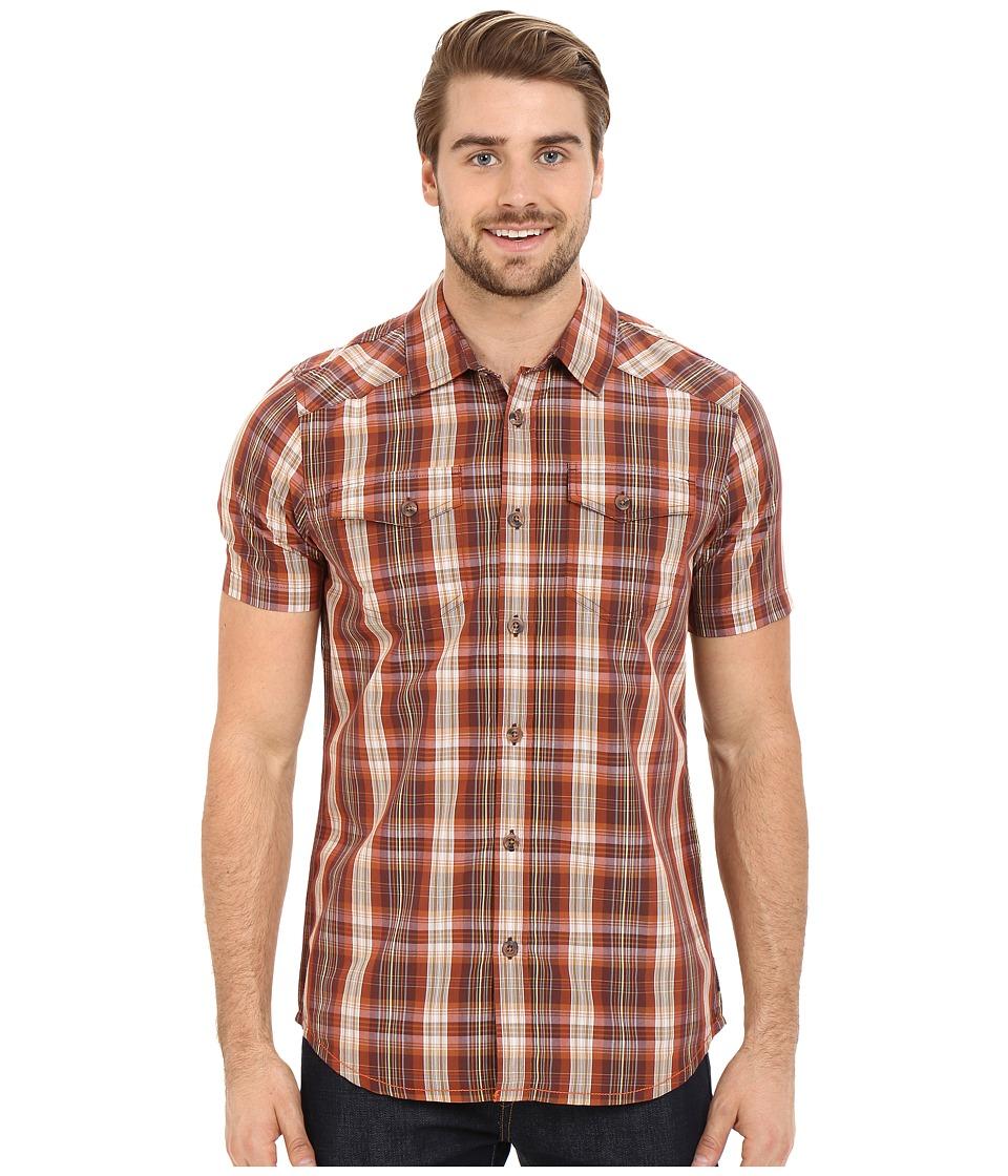 Prana - Murdock Slim (Raisin) Men's Short Sleeve Button Up