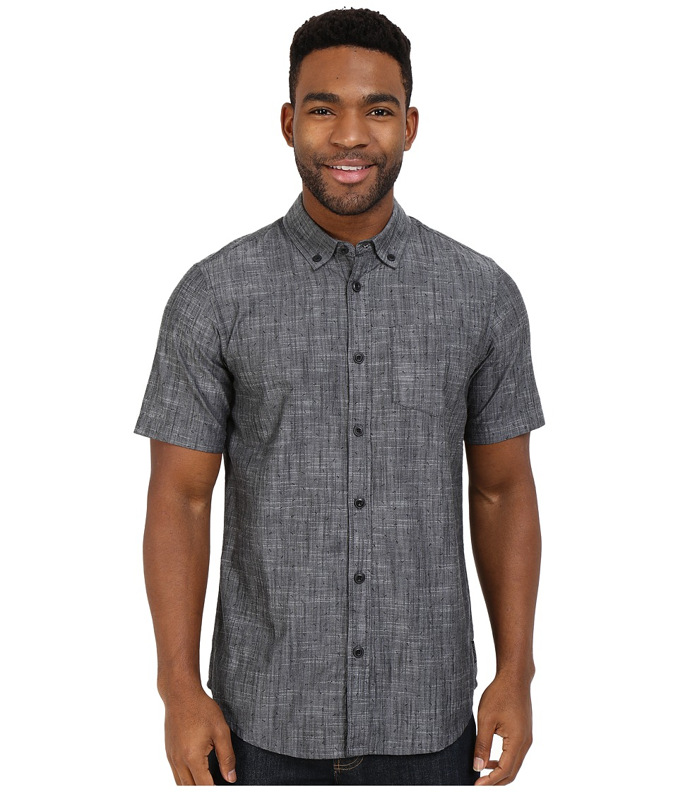 Prana - Broderick Slim Fit Shirt (Charcoal) Men's Short Sleeve Button Up